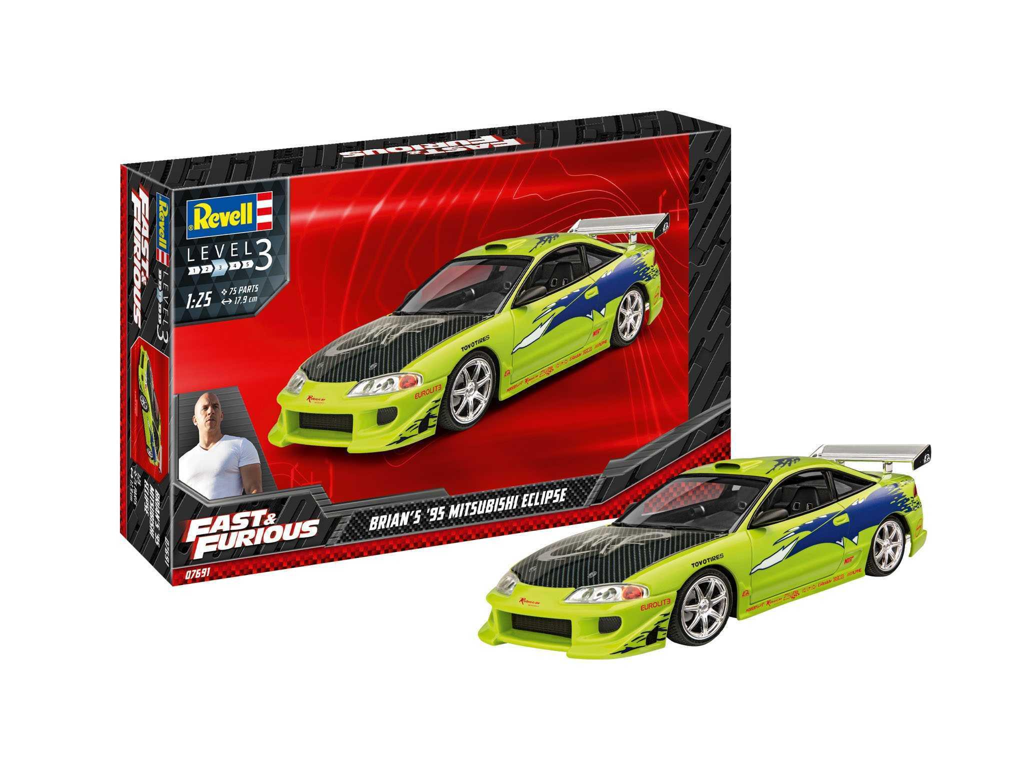 1:25 Fast & Furious Brian's 1995 Mitsubishi Eclipse (Model Set)