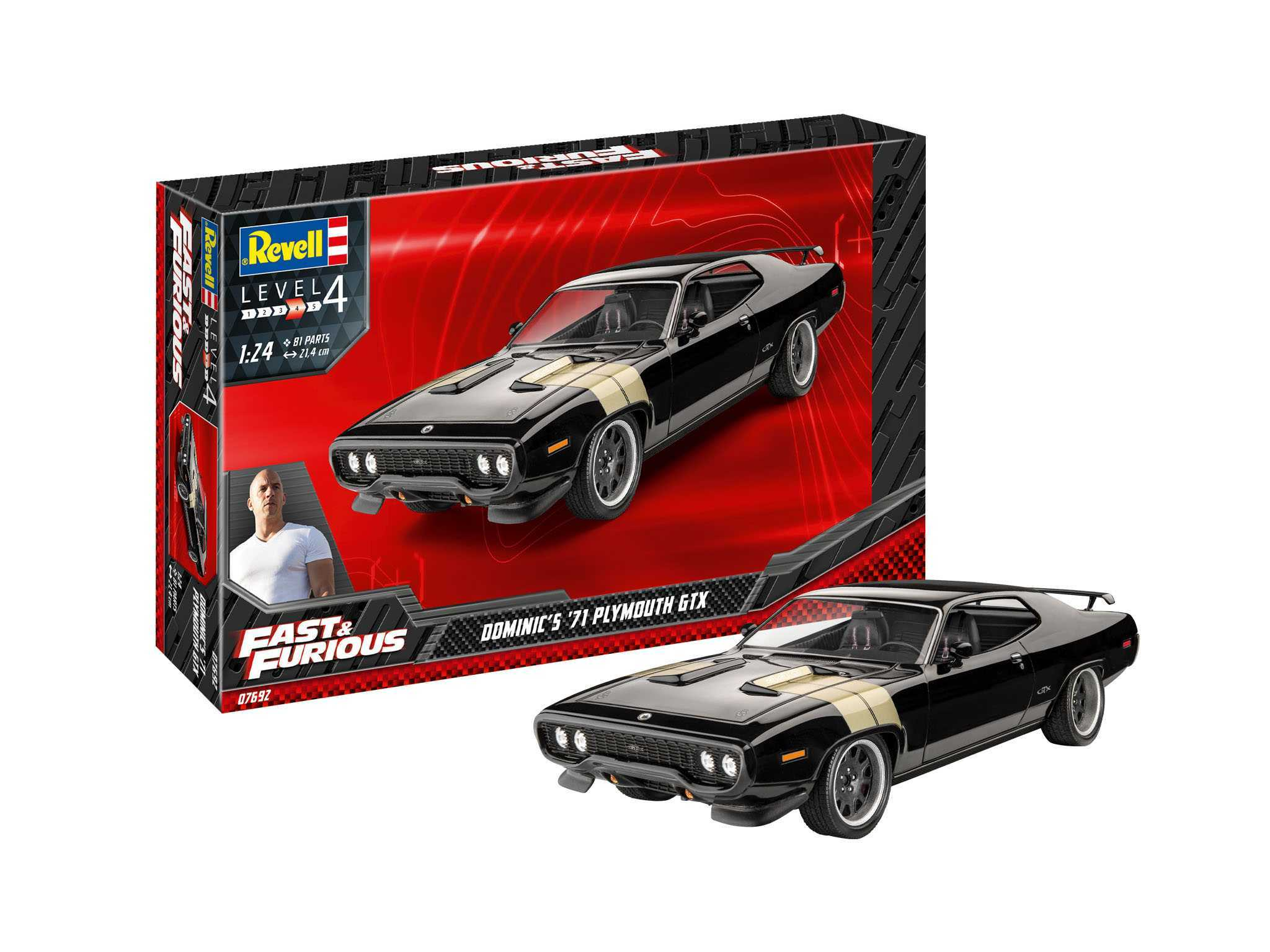 1:24 Fast & Furious Dominic's 1971 Plymouth GTX (Model Set)
