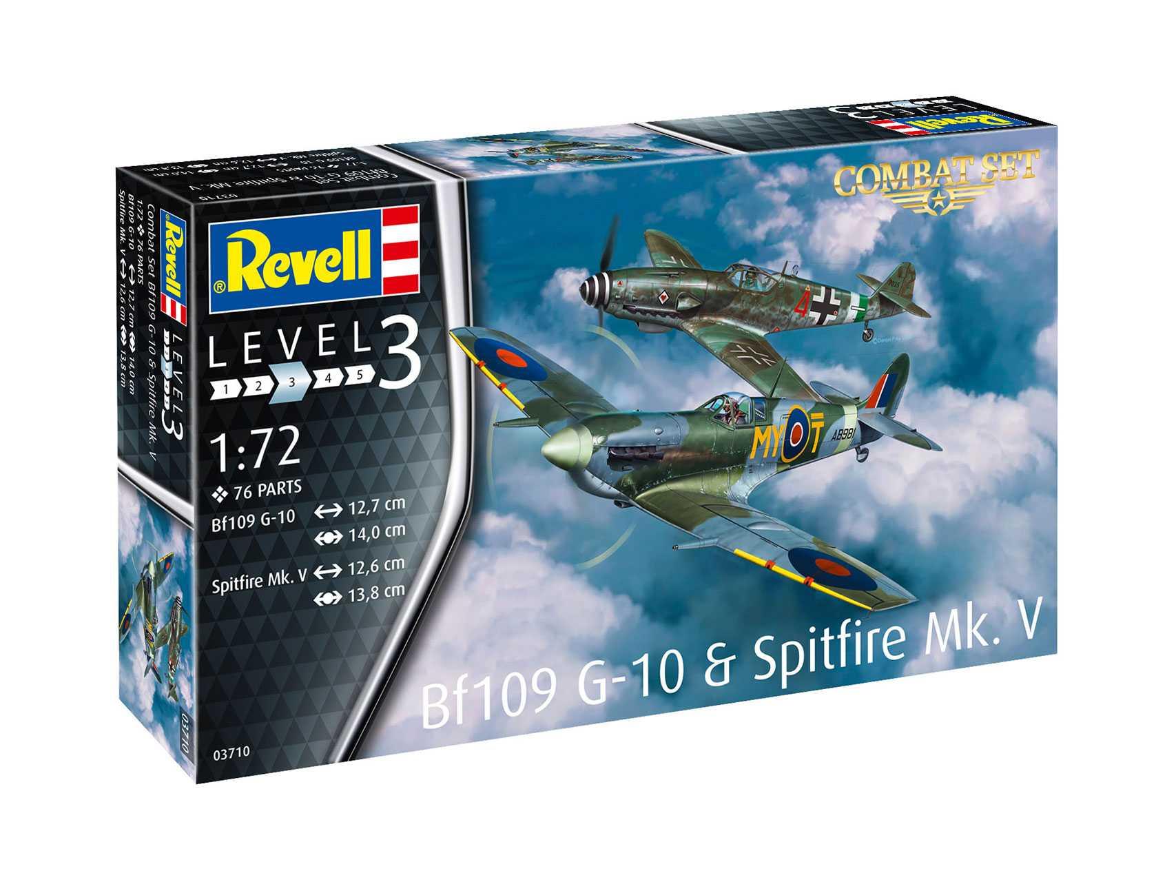 1:72 Messerschmitt Bf 109 G-10 & Supermarine Spitfire Mk.V (Model Set)