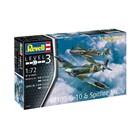 ModelSet letadla 63710 - Bf109G-10 & Spitfire Mk.V (1:72)