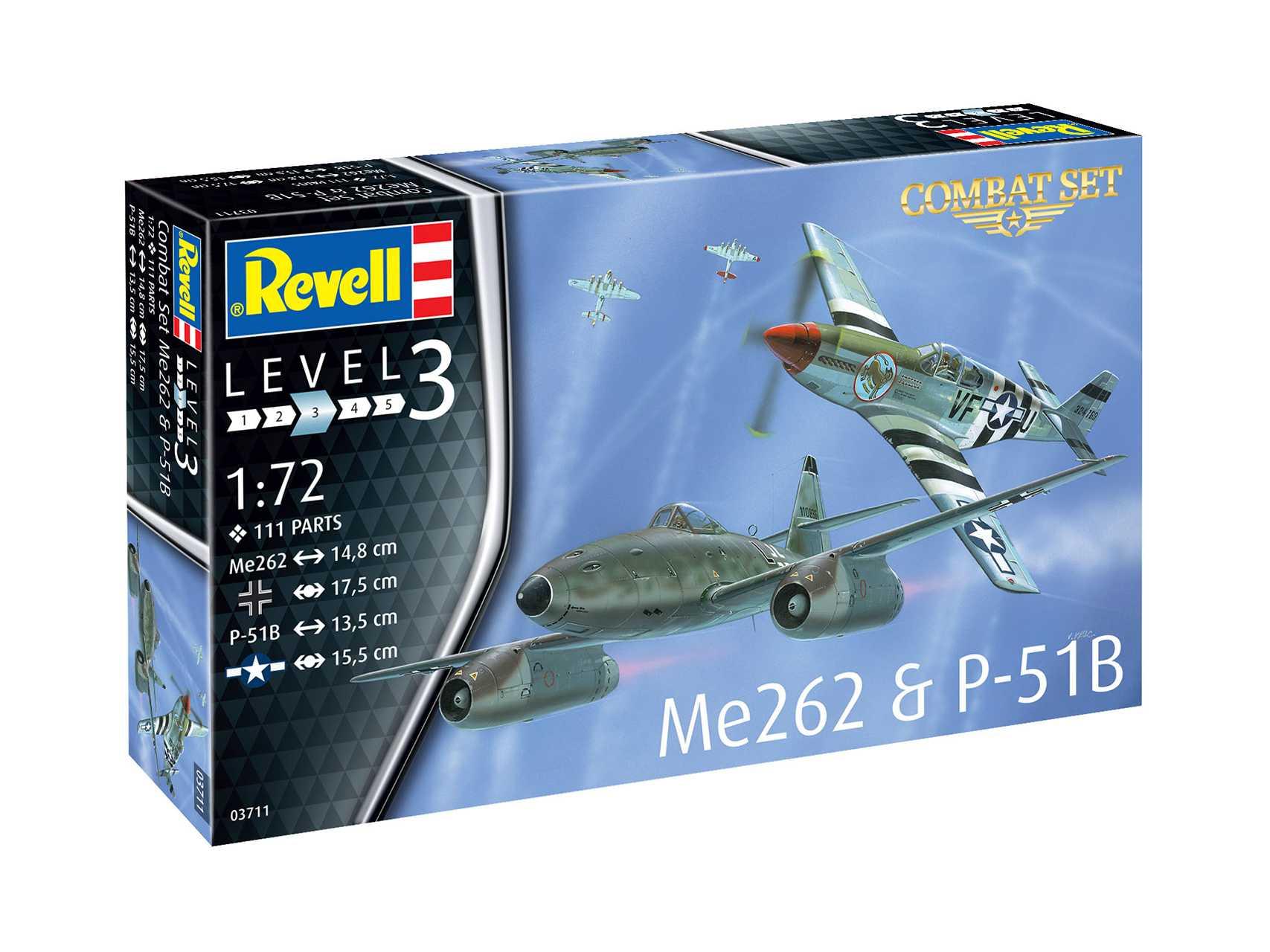 1:72 Messerschmitt Me 262 & North American P-51B (Model Set)
