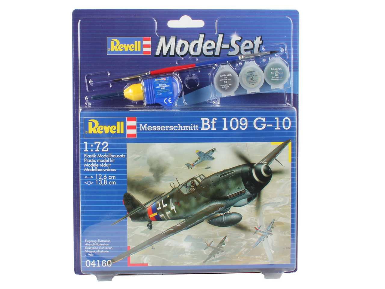 1:72 Messerschmitt Bf 109 G-10 (Model Set)