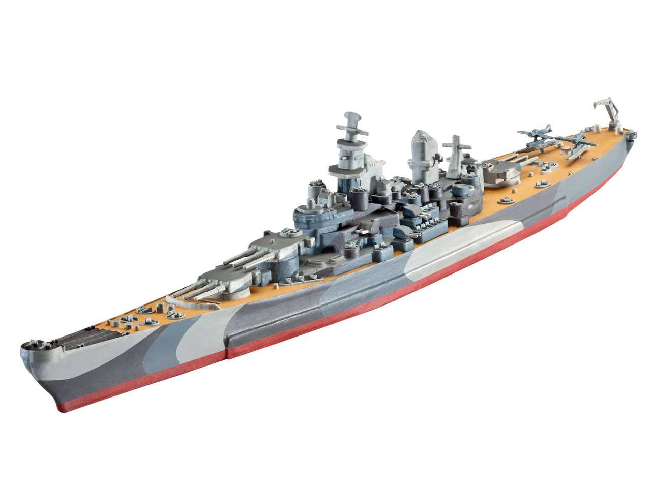 1:1200 Battleship U.S.S. Missouri (Model Set)