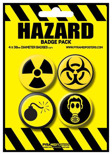 Placka set - Hazard - 4x38mm