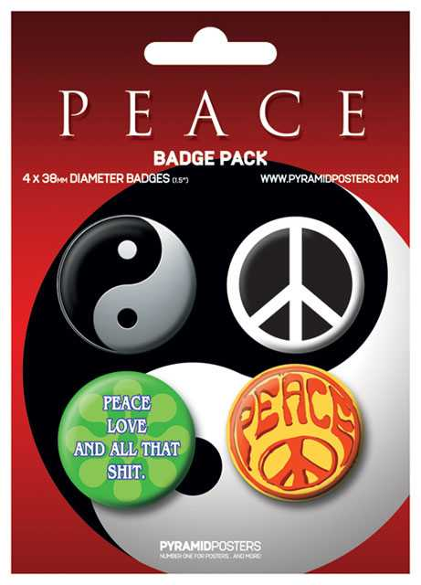 Placka set - Peace - 4x38mm