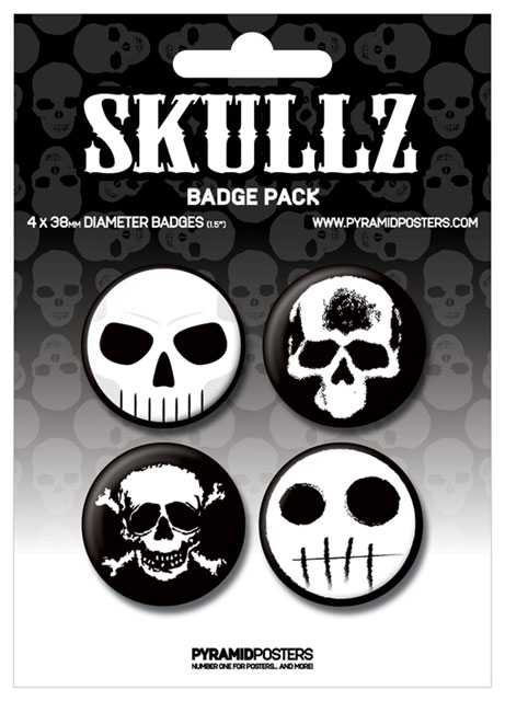 Placka set - Skullz - 4x38mm