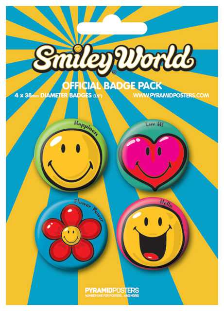 Placka set - Smiley 1 - 4x38mm