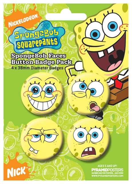Placka set - Sponge Bob - 4x38mm