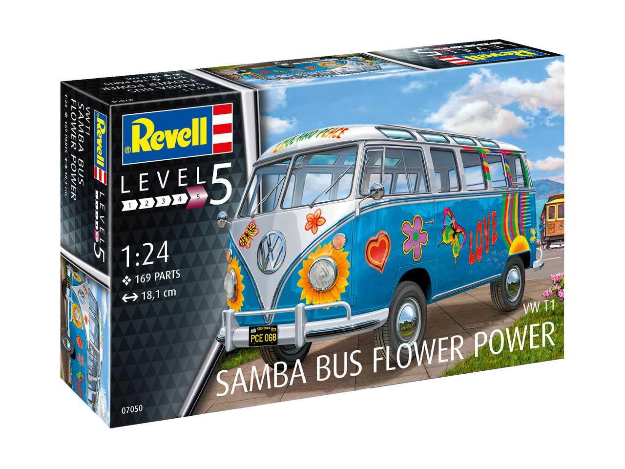 Náhled produktu - 1:24 VW T1 Samba Bus ″Flower Power″