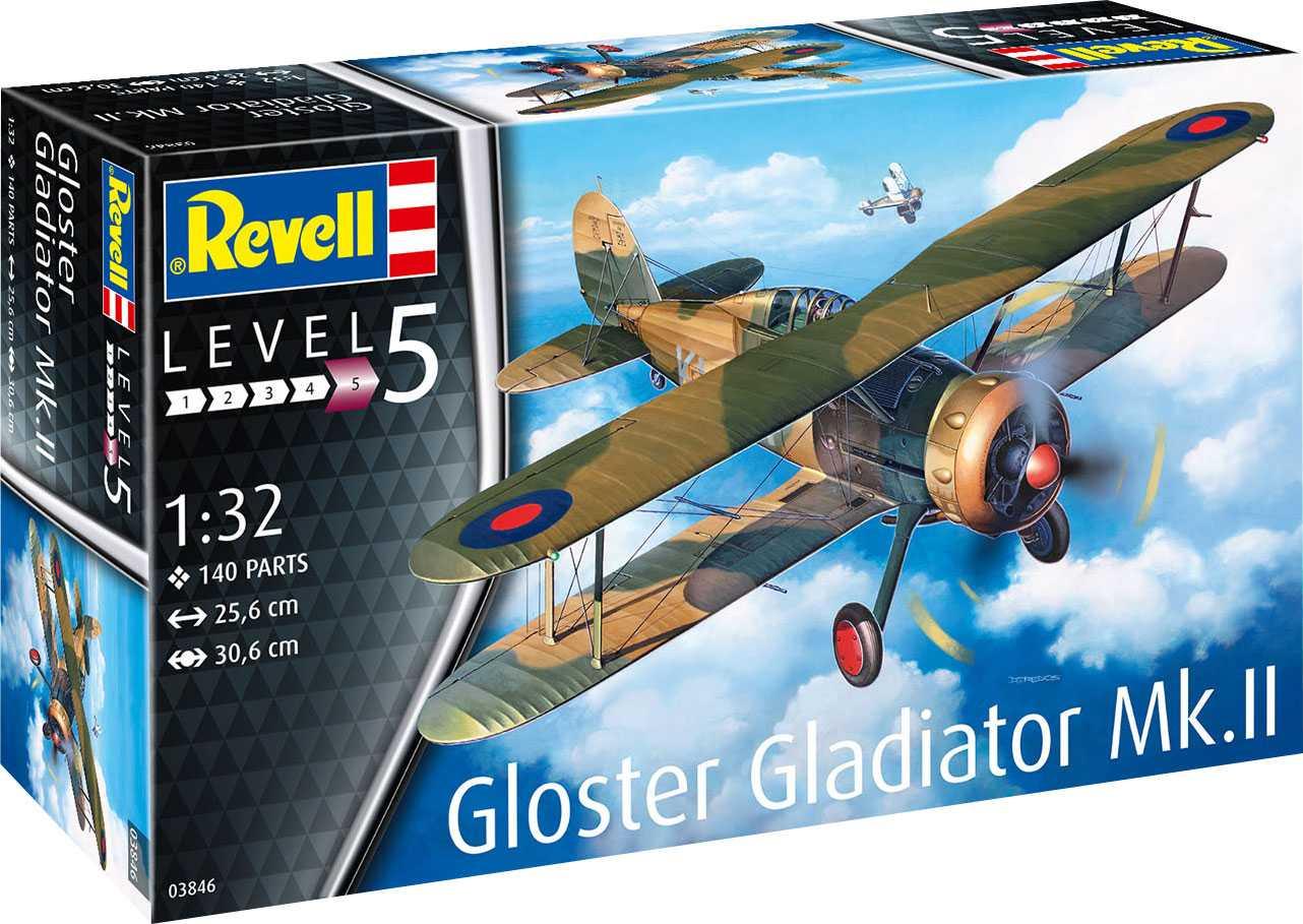 1/32 Plastikový model - letadlo 03846 - Gloster Gladiator Mk. II