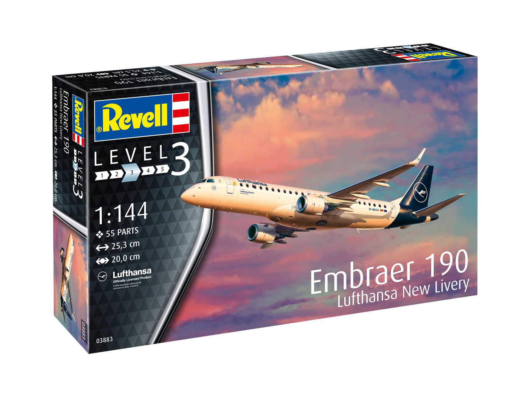 1:144 Embraer 190, Lufthansa New Livery