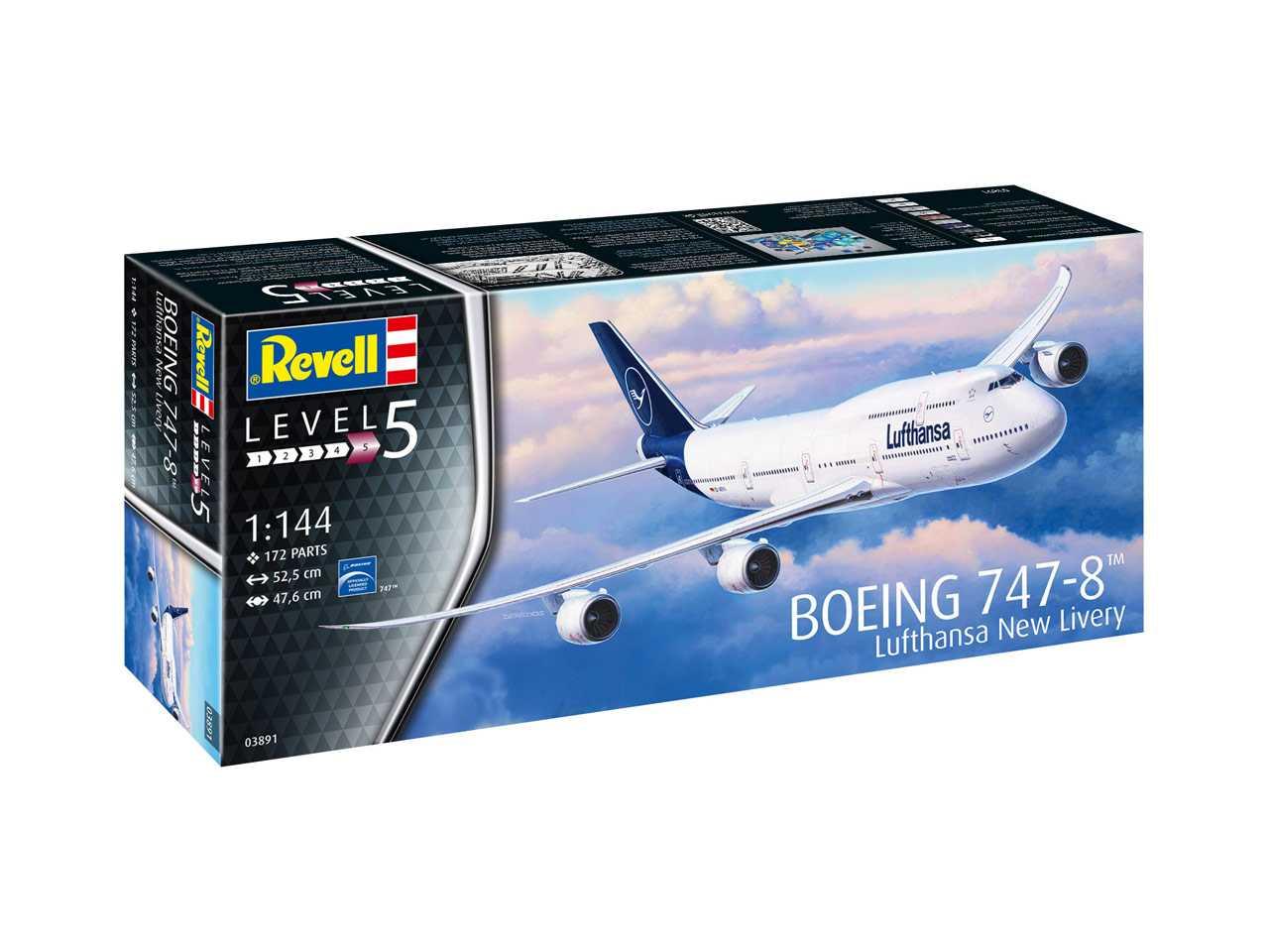 "Náhled produktu - 1:144 Boeing 747-8, Lufthansa ""New Livery"""