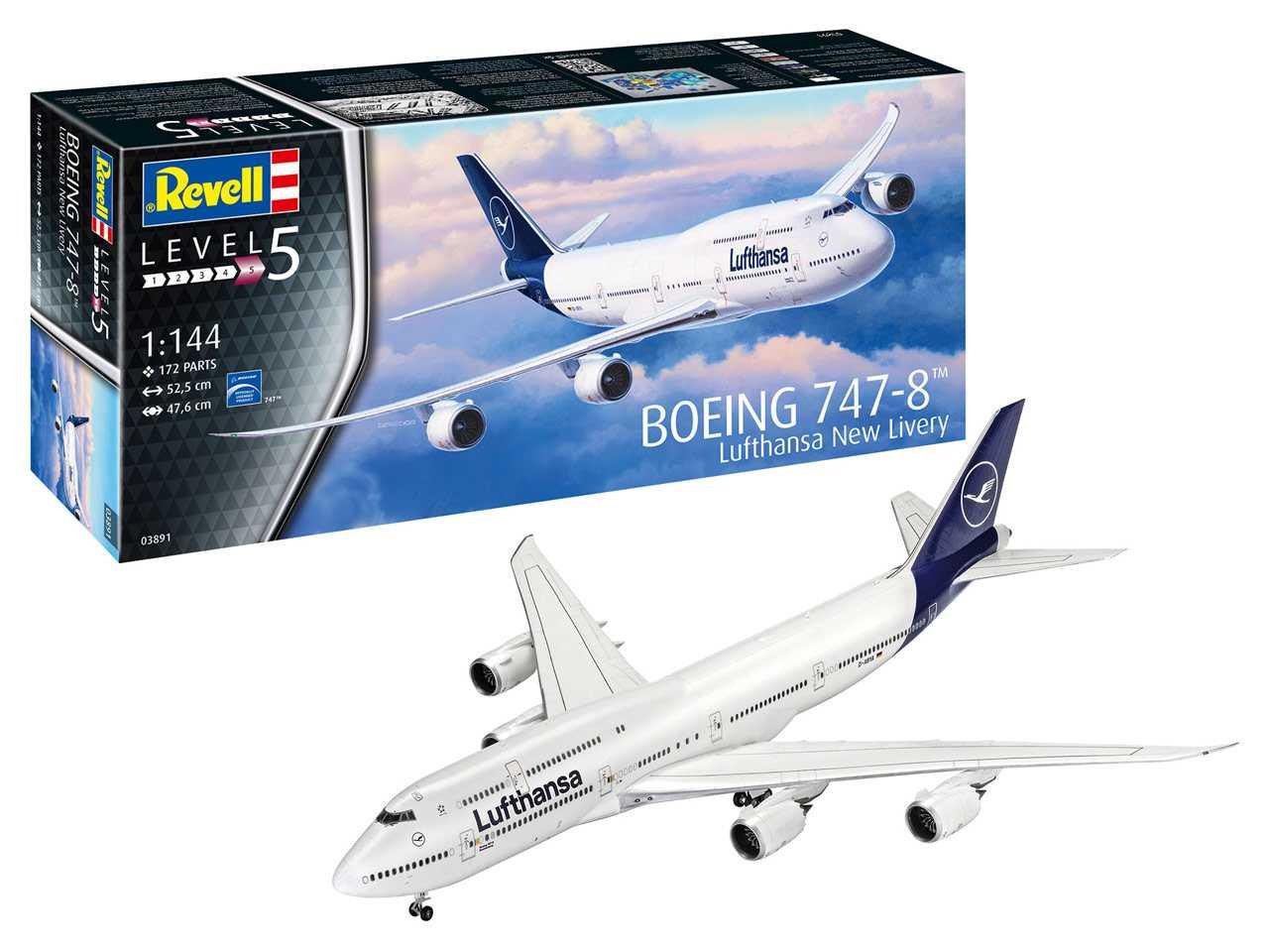 "1:144 Boeing 747-8, Lufthansa ""New Livery"""