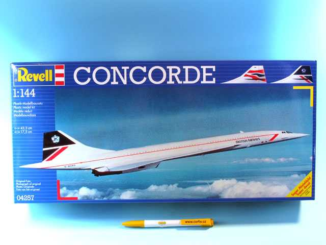 1:144 Concorde British Airways + Air France