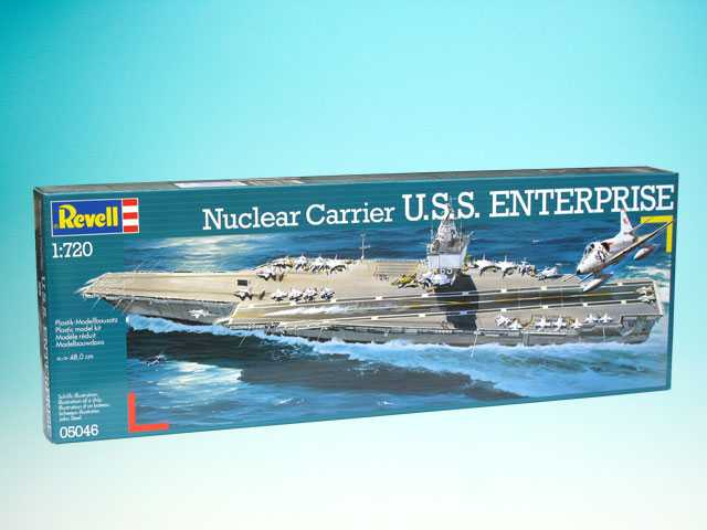 1:720 U.S.S. Enterprise 1961 480 mm