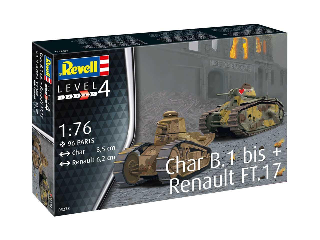 1:76 Char B.1 bis & Renault FT.17