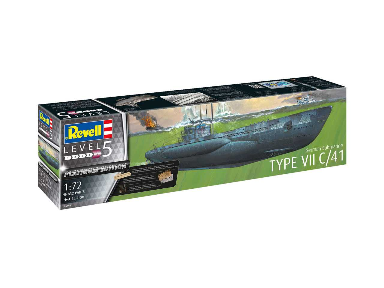 1:72 German Submarine Type VII C/41 (Platinum Edition)