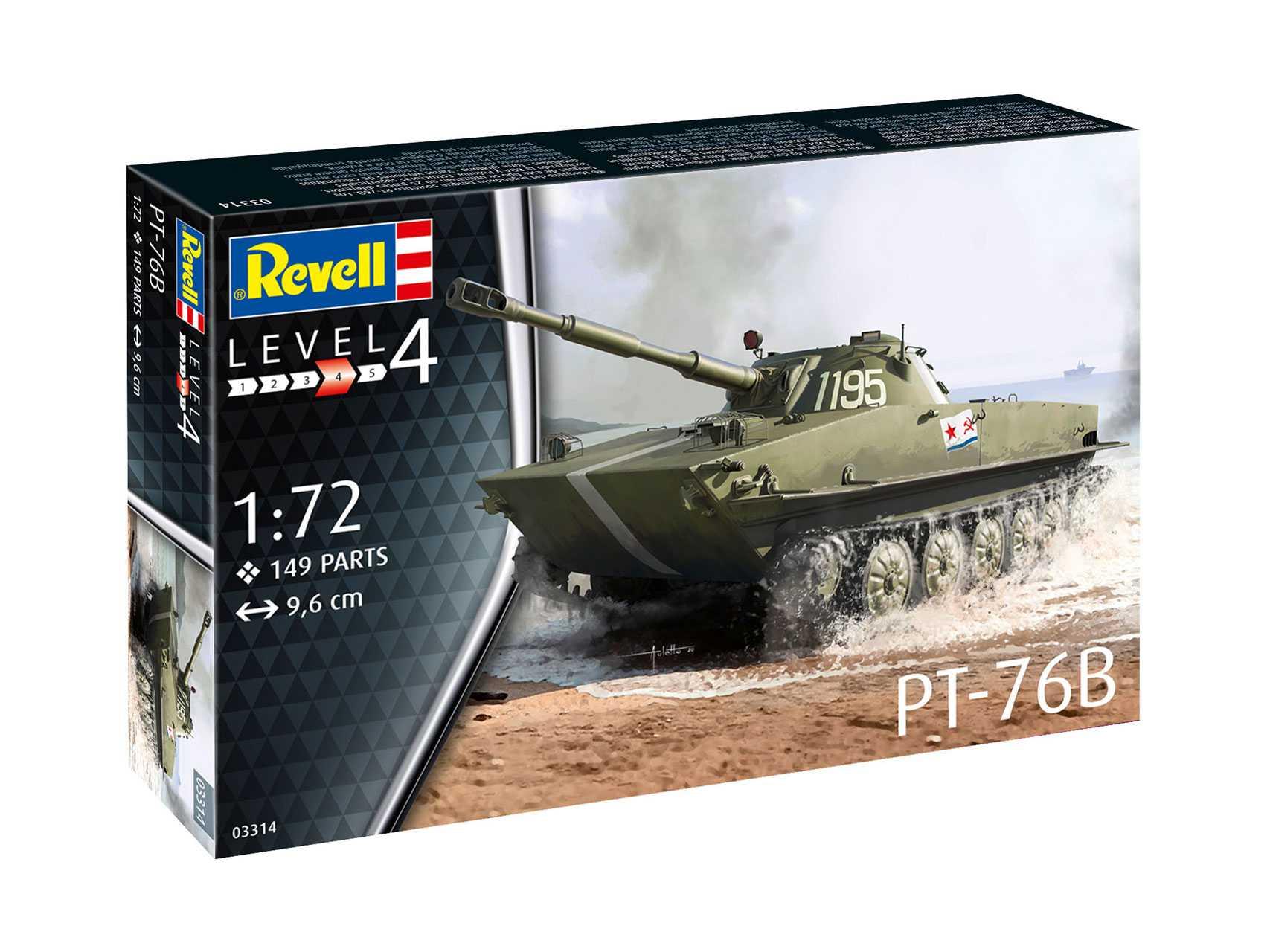 1/72 Plastikový model - tank 03314 - PT-76B