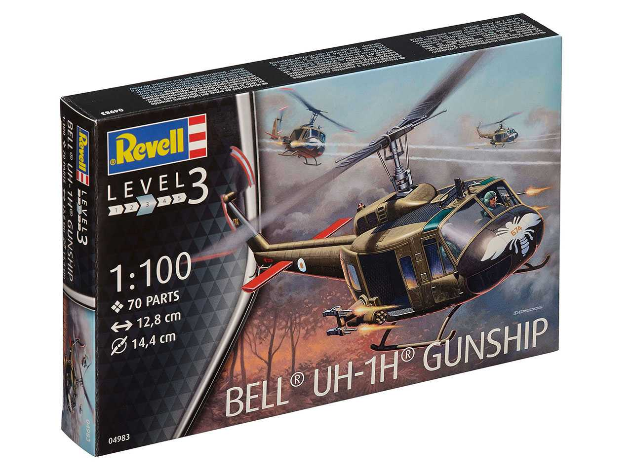 1:100 Bell UH-1H Gunship