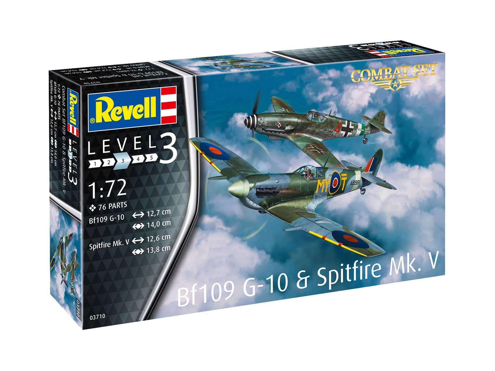 1:72 Messerschmitt Bf 109 G-10 & Supermarine Spitfire Mk.V