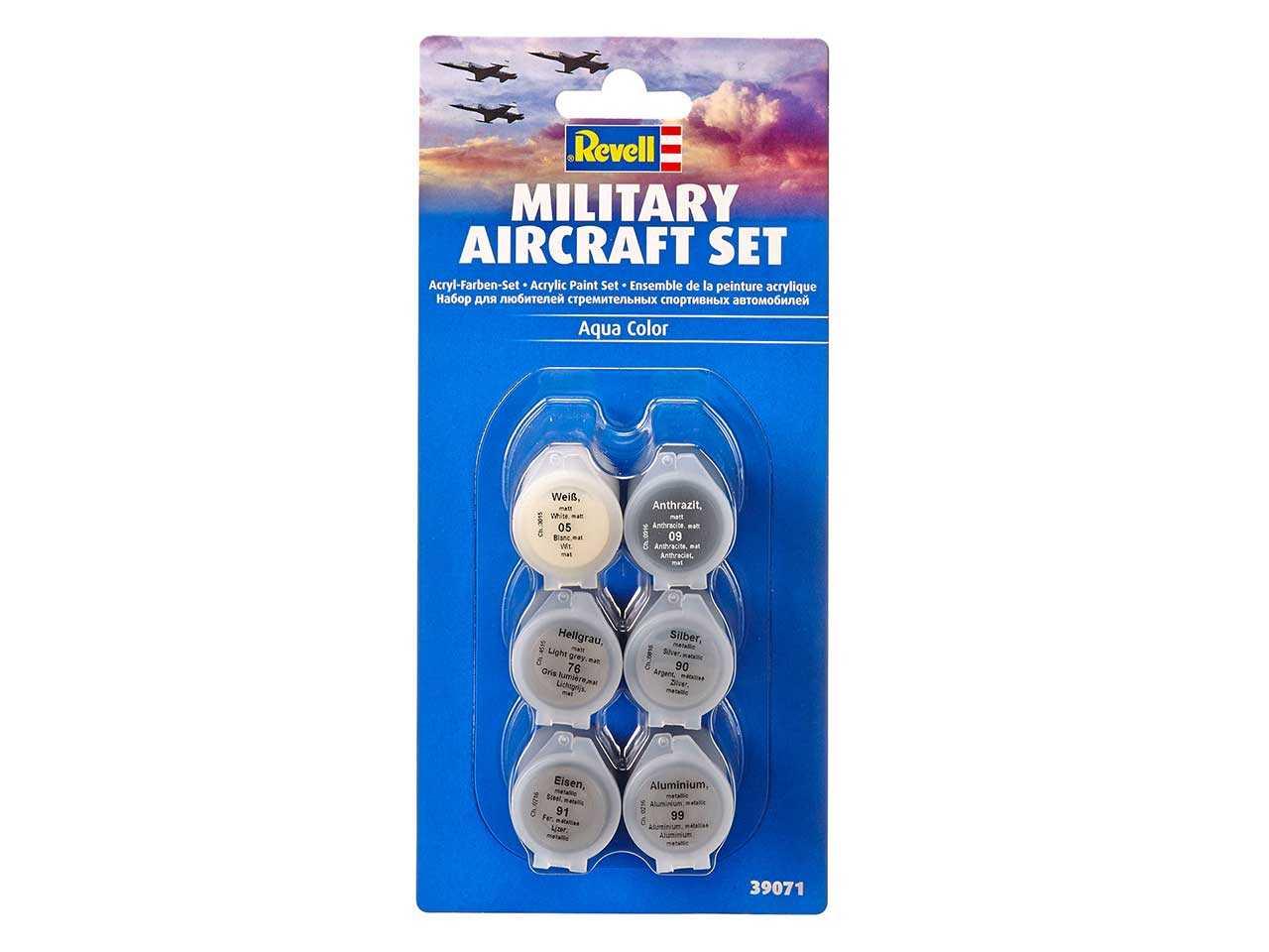 Sada barev Aqua Color 39071 - Military Aircraft Set