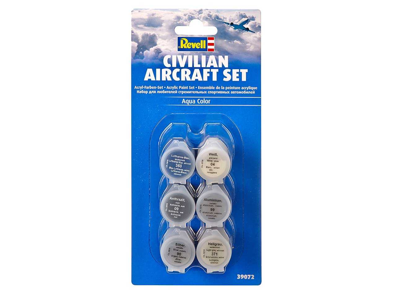 Sada barev Aqua Color 39072 - Civilian Aircraft Set