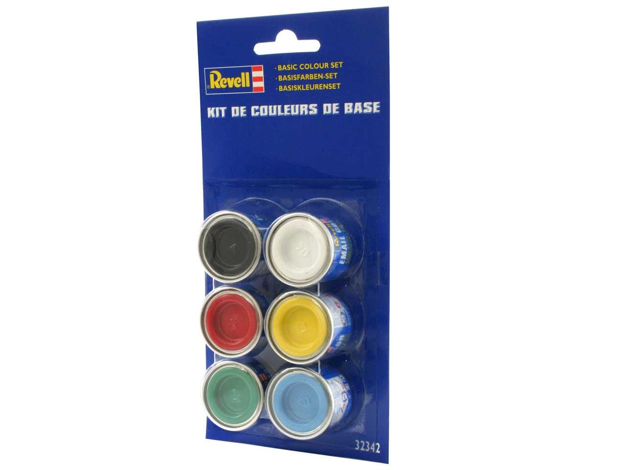 Sada syntetických barev Revell – Basic Set (6×14 ml)