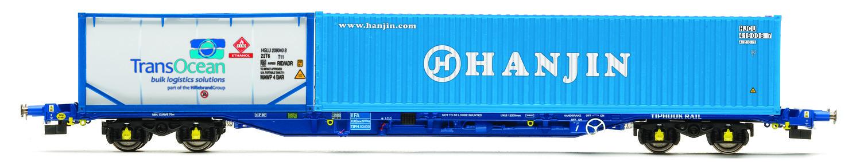 Vagón nákladní HORNBY R6793 - Tiphook KFA Container Wagon