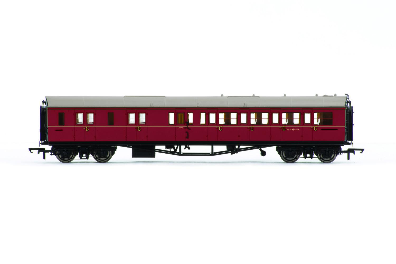 Vagón osobní HORNBY R4765 - BR Collett Coach Corridor Brake Third Class LH, Maroon