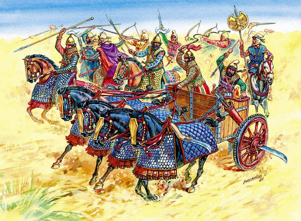 1:72 Persian Chariot and Cavalry