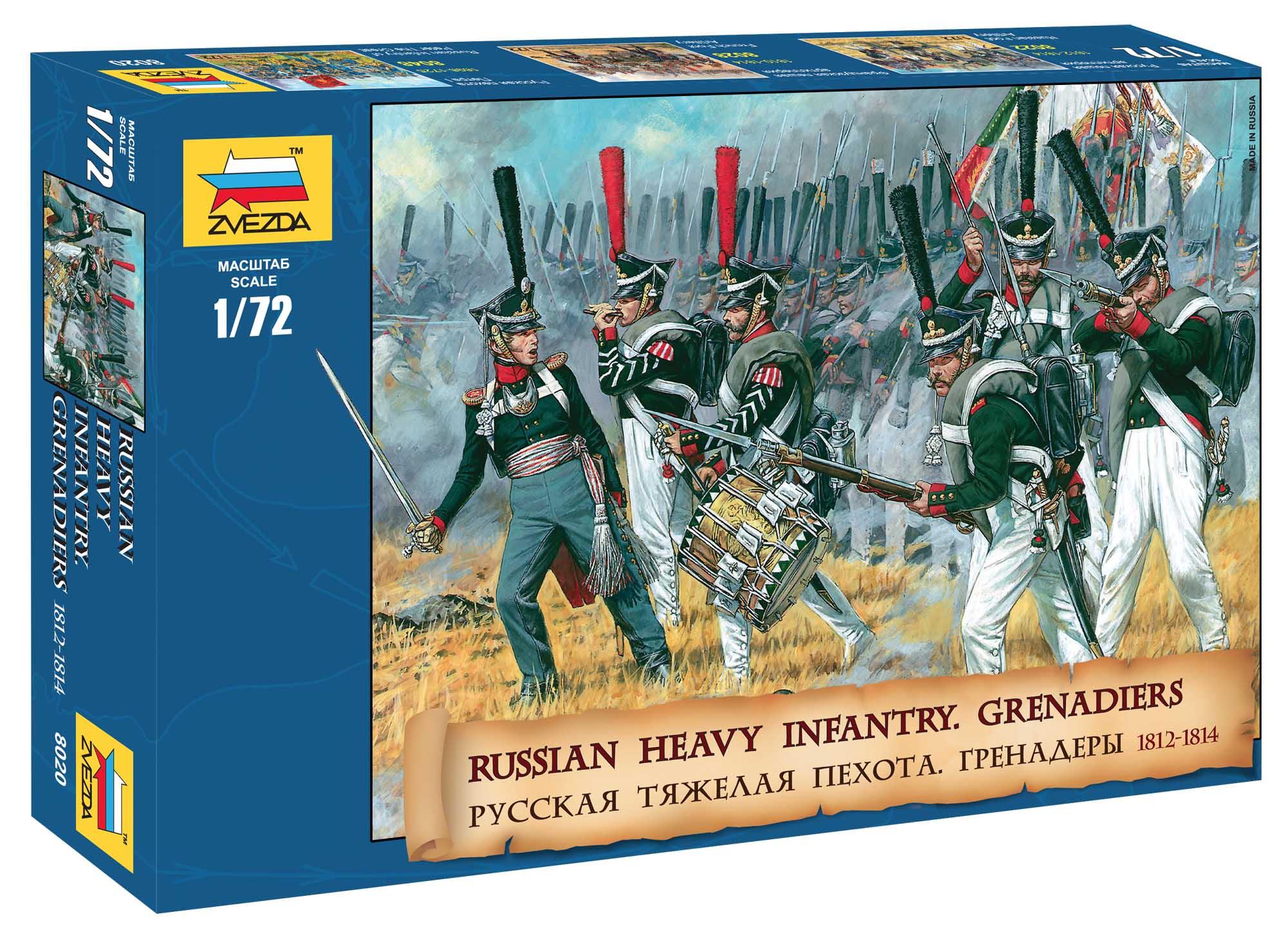 Náhľad produktu - 1:72 Russian Heavy Infantry Grenadiers (1812–1815)