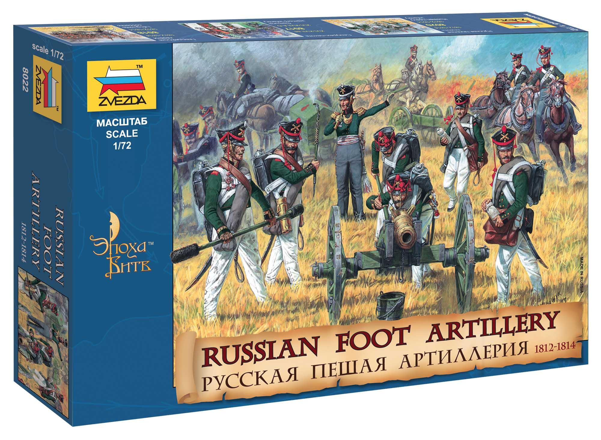 Náhľad produktu - 1:72 Russian Foot Artillery (1812-1814)