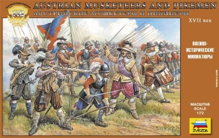 1:72 Rakúski mušketieri a pikenieri (17. storočia)