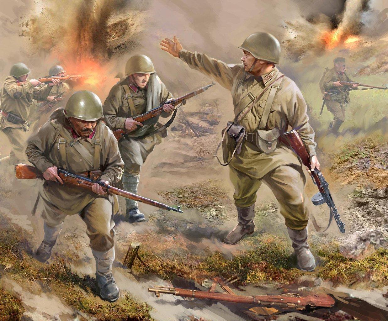 Zvezda figurky - sovětská pěchota 1941 (1:72)