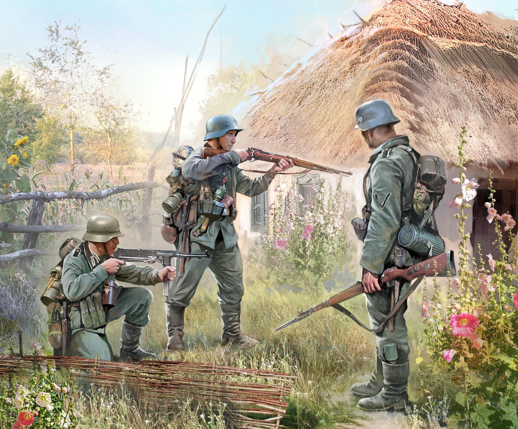 Zvezda německá pěchota z východní fronty 1941 (1:72)