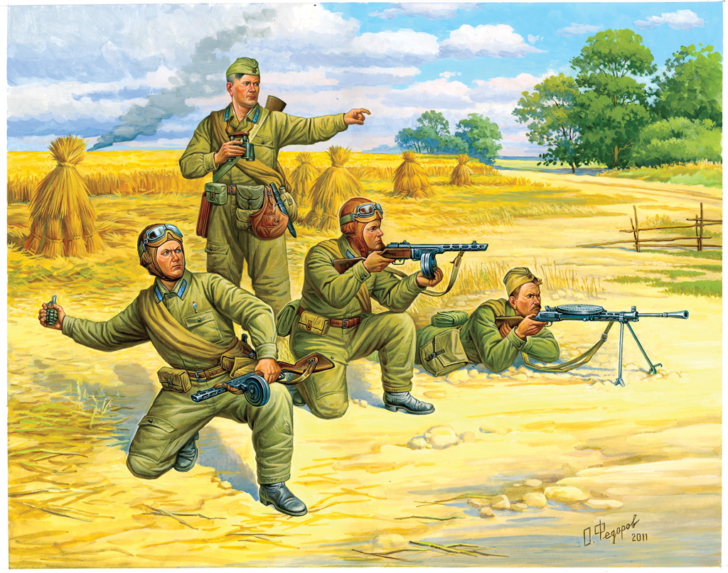 Zvezda figurky - sovětští výsadkáři (1:72)