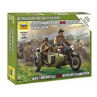 Wargames (WWII) figurky 6277 - Soviet M-72 Sidecar Motorcycle w/Crew (1:72)