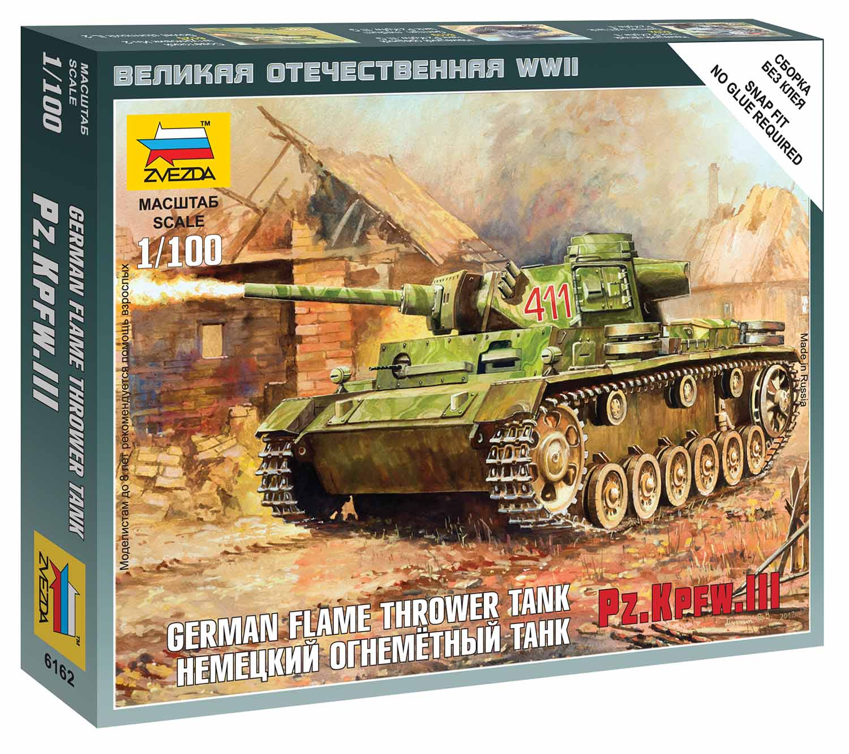 Náhľad produktu - Zvezda Easy Kit Panzer III Flamethrower Tank (1:100)