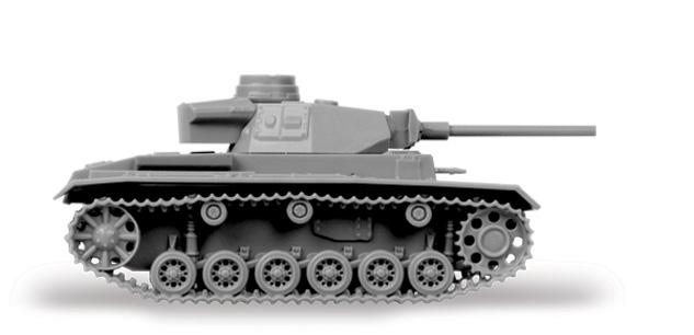 Zvezda Easy Kit Panzer III Flamethrower Tank (1:100)