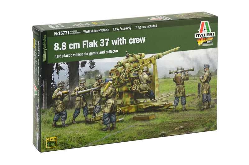 1:56 88mm Gun FlaK 37 with Crew
